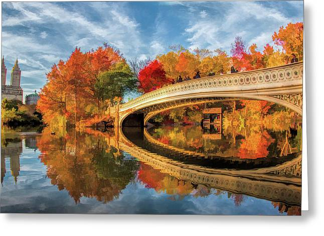 New York City Central Park Bow Bridge Greeting Card