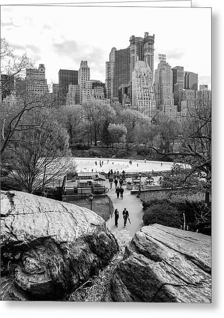 New York City Central Park Ice Skating Greeting Card