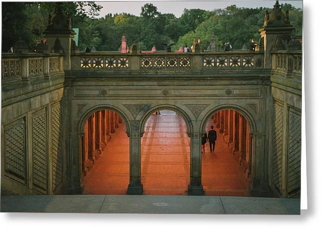 New York City Central Park Romance Greeting Card