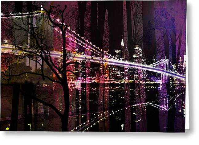 New York City Greeting Card by Christine Mayfield