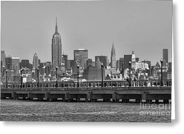 New York City Greeting Card by Chuck Kuhn