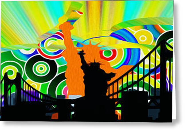 New York City Colors Greeting Card by Stefano Senise
