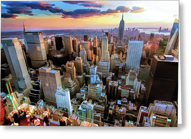 New York City Downtown Manhattan Greeting Card
