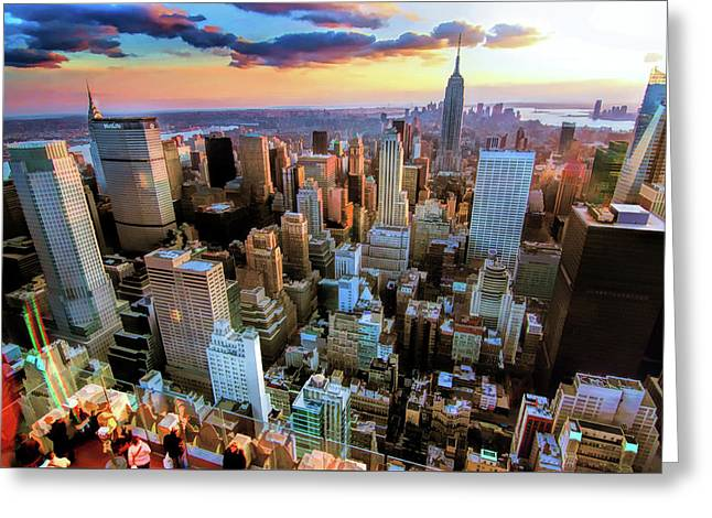 New York City Downtown Manhattan Greeting Card