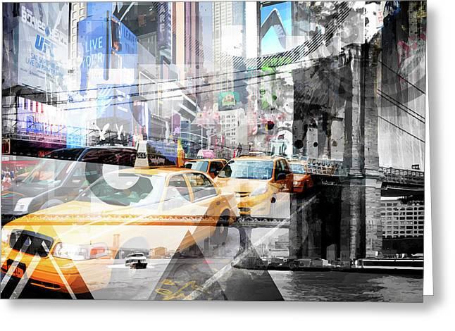 New York City Geometric Mix No. 9 Greeting Card