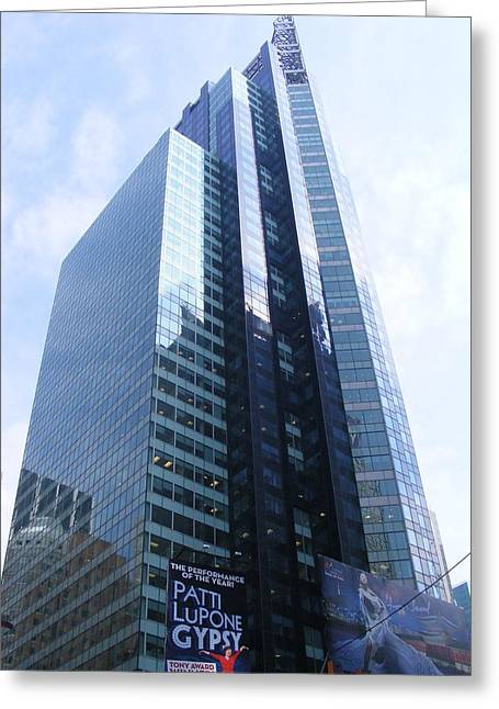 Greeting Card featuring the photograph New York City Highrise by Margie Avellino