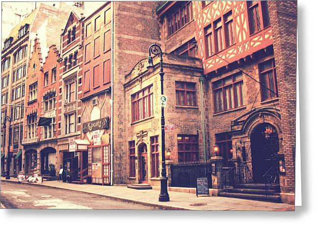 New York City - History In The Streets Greeting Card by Vivienne Gucwa