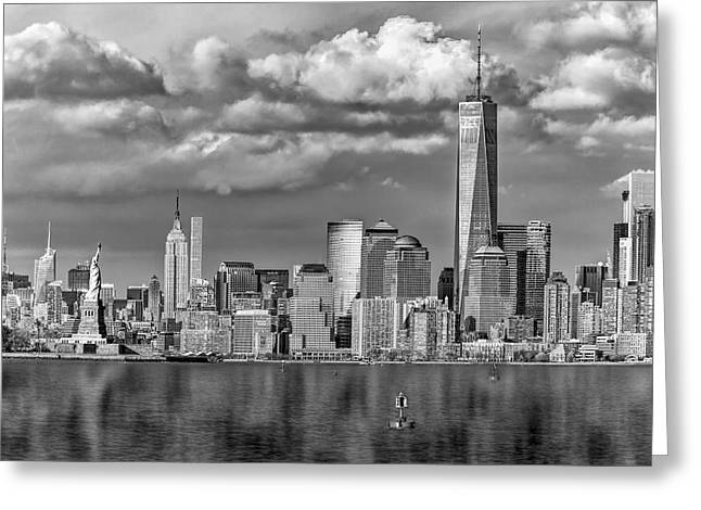 New York City Icons II Bw Greeting Card by Susan Candelario