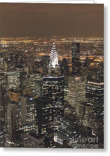 Greeting Card featuring the photograph New York City by Laurinda Bowling
