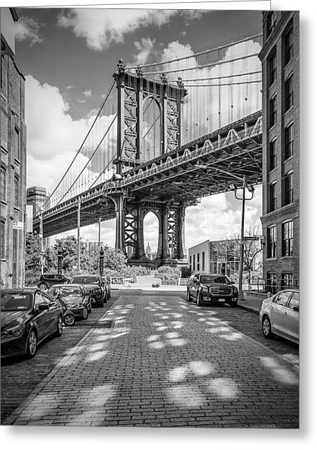 New York City Manhattan Bridge - Panorama Greeting Card