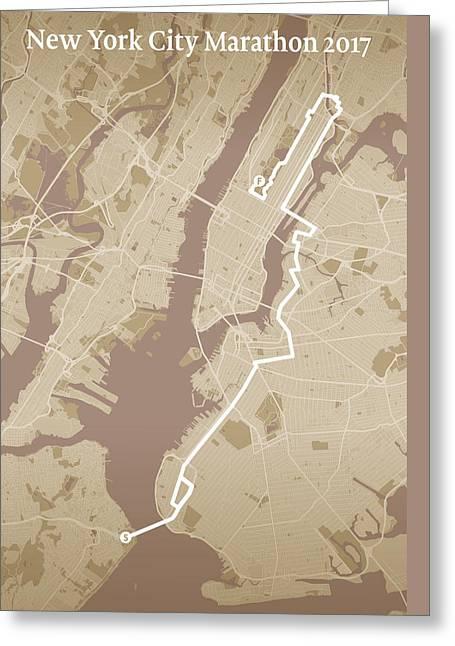 New York City Marathon #1 Greeting Card by Big City Artwork
