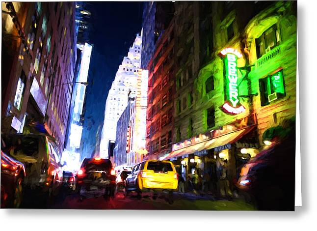 New York City Greeting Card by Matthew Ashton