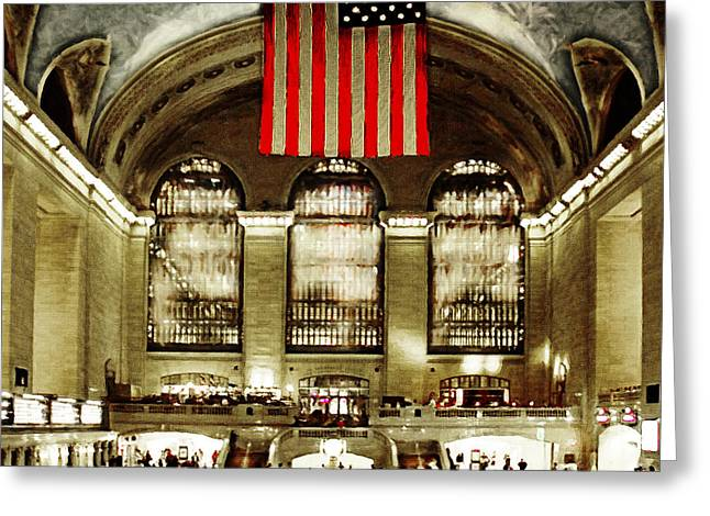 New York City Midtown Manhatten Grand Central Terminal 20160215 Square Greeting Card by Wingsdomain Art and Photography