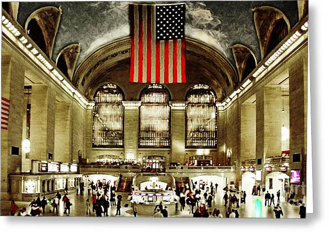 New York City Midtown Manhatten Grand Central Terminal 20160215 Greeting Card by Wingsdomain Art and Photography