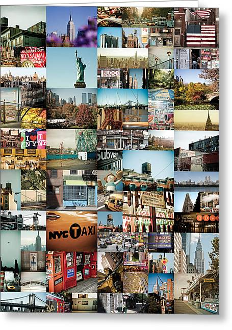 New York City Montage 2 Greeting Card by Darren Martin