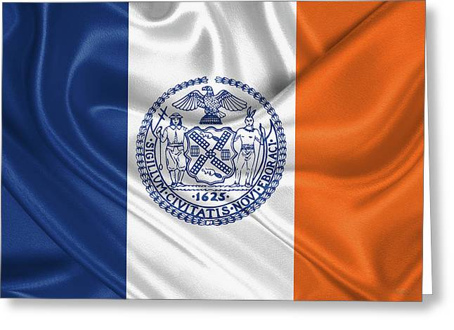 New York City - Nyc Flag Greeting Card