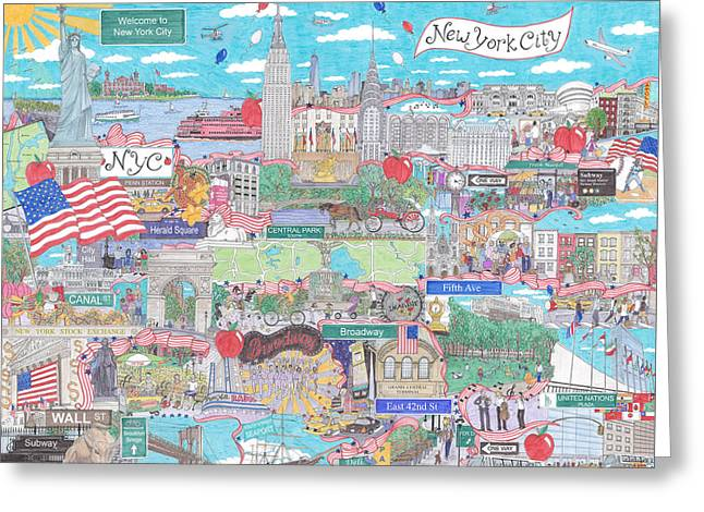 New York City On A Sunny Day Greeting Card