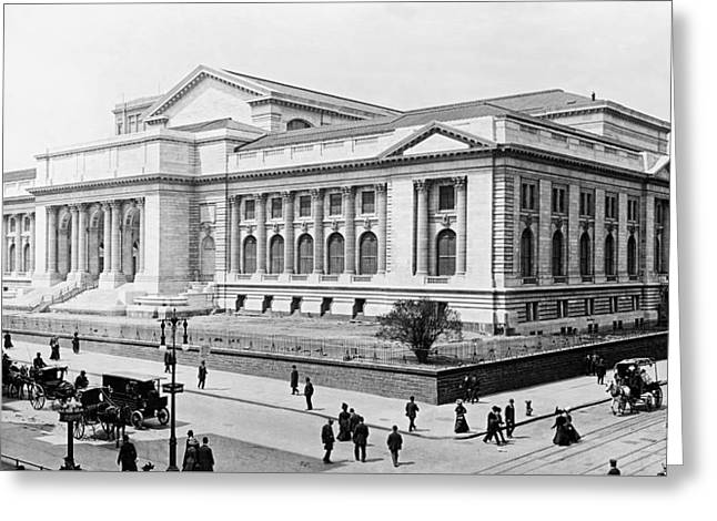 New York City Public Library - 1908 Greeting Card by Mountain Dreams