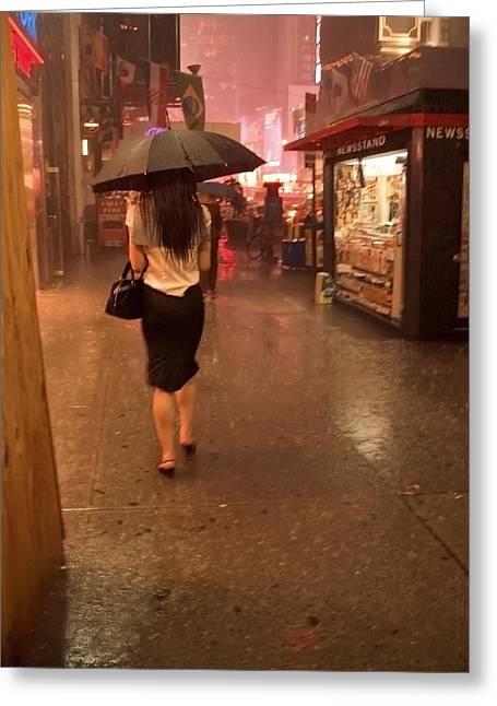Andrew Kazmierski Greeting Cards - New York City Rain Greeting Card by Andrew Kazmierski