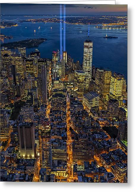New York City Remembers September 11 - Greeting Card by Susan Candelario