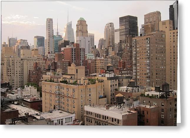 New York City Skyline From Murray Hill Greeting Card