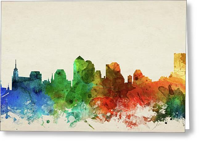 New York City Skyline Panorama Usnyny-pa03 Greeting Card