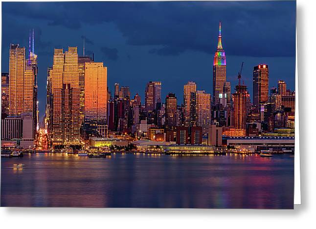 Greeting Card featuring the photograph New York City Skyline Pride by Susan Candelario