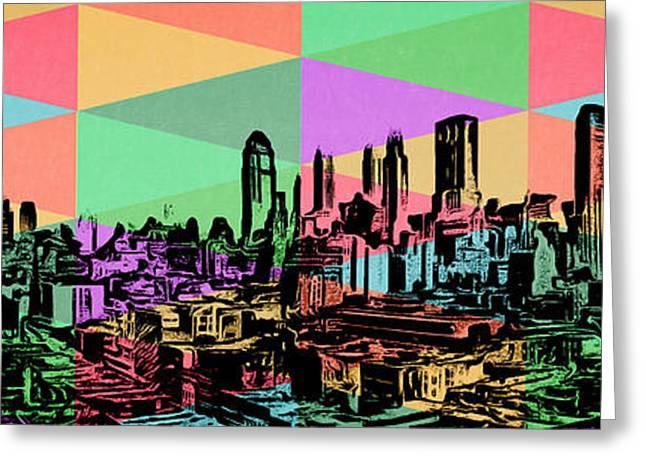 New York City Skyline Rainbow Greeting Card