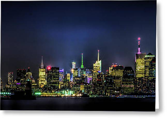 Greeting Card featuring the photograph New York City Skyline by Theodore Jones