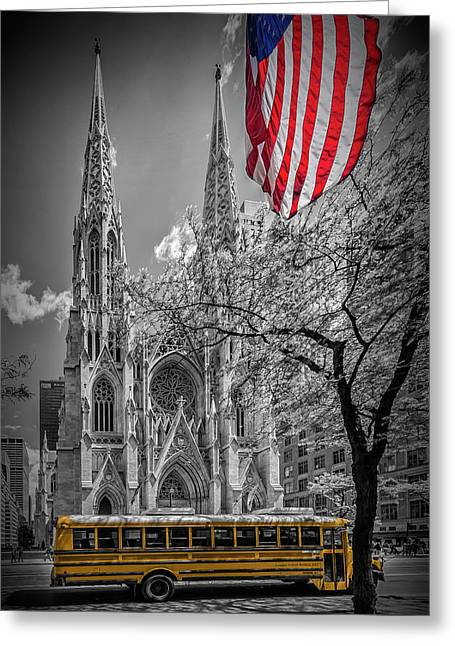 New York City St. Patrick's Cathedral Greeting Card by Melanie Viola