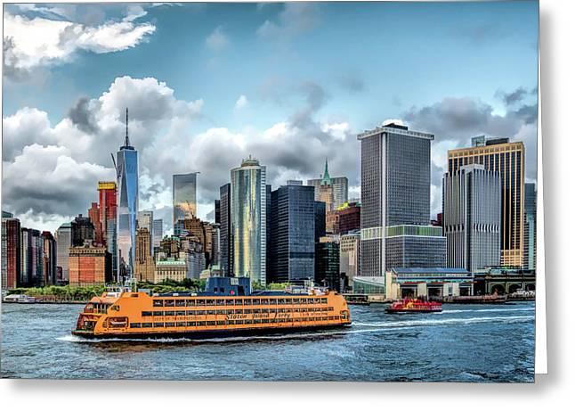 New York City Staten Island Ferry Greeting Card