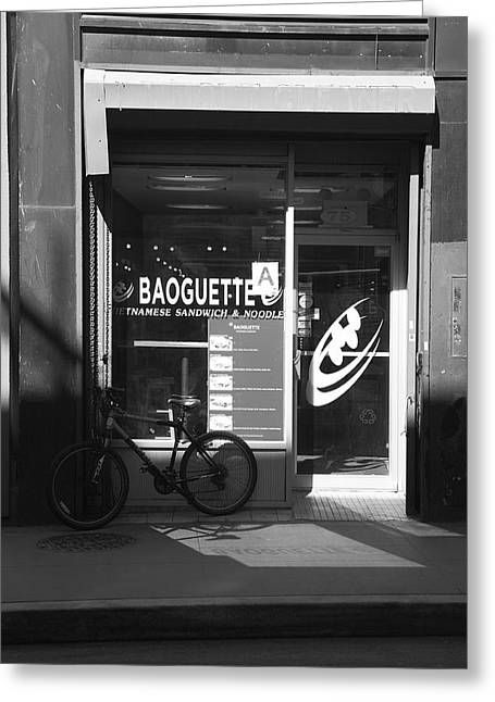New York City Storefront Bw2 Greeting Card by Frank Romeo