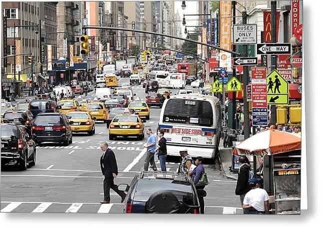 New York City Street Scene Greeting Card