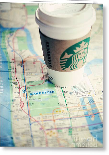 New York City Subway Map Greeting Card by Kim Fearheiley