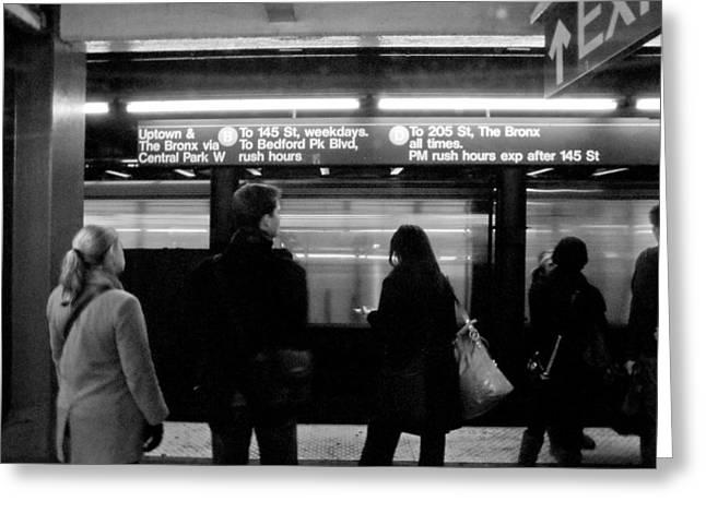 New York City Subway Greeting Card by Patrick  Flynn