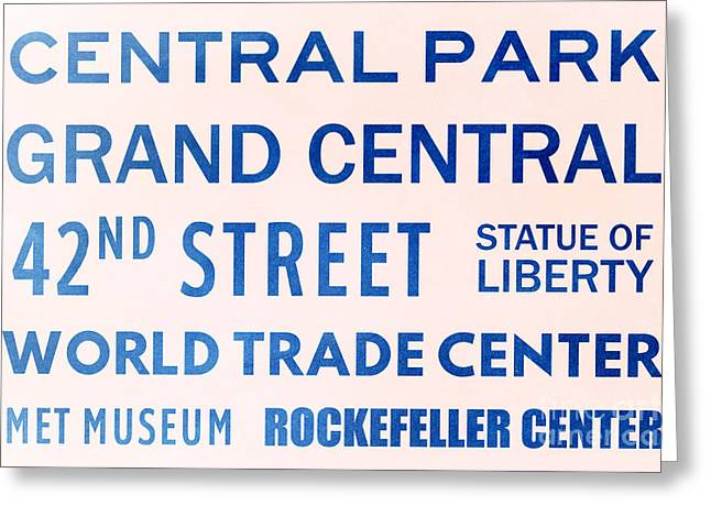 New York City Subway Sign Typography Art 10 Greeting Card
