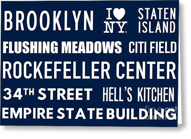New York City Subway Sign Typography Art 18 Greeting Card