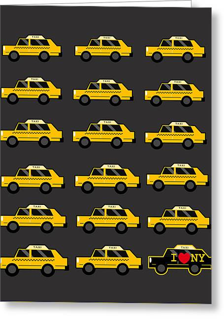 New York City Taxi Greeting Card by Art Spectrum