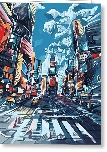 New York City-times Square Greeting Card