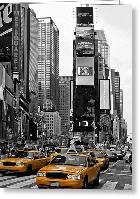 New York City Times Square  Greeting Card by Melanie Viola
