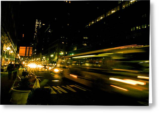New York City Traffic Greeting Card by Patrick  Flynn