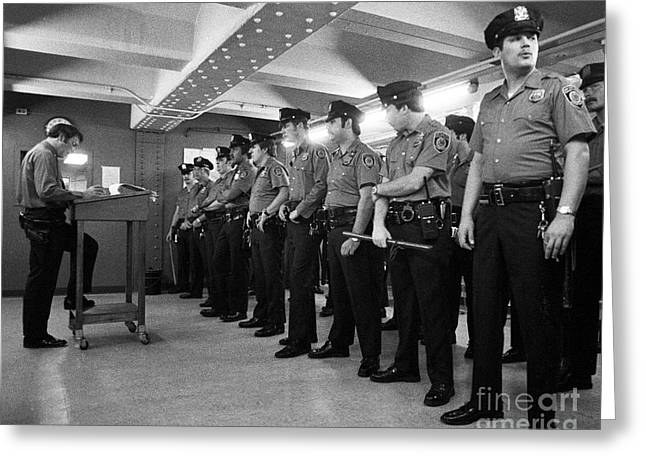 New York City Transit Police 1978 Greeting Card