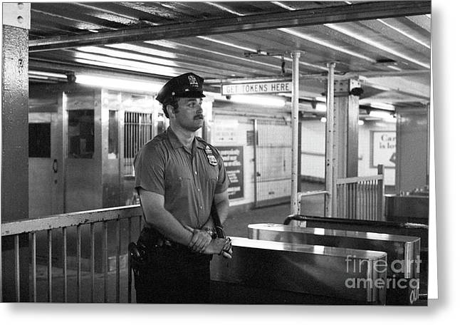 New York City Transit Police Officer 1978 Greeting Card
