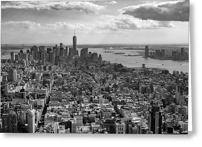 New York City - View From Empire State Building Greeting Card