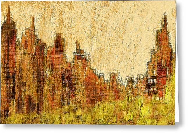 New York City In The Fall Greeting Card