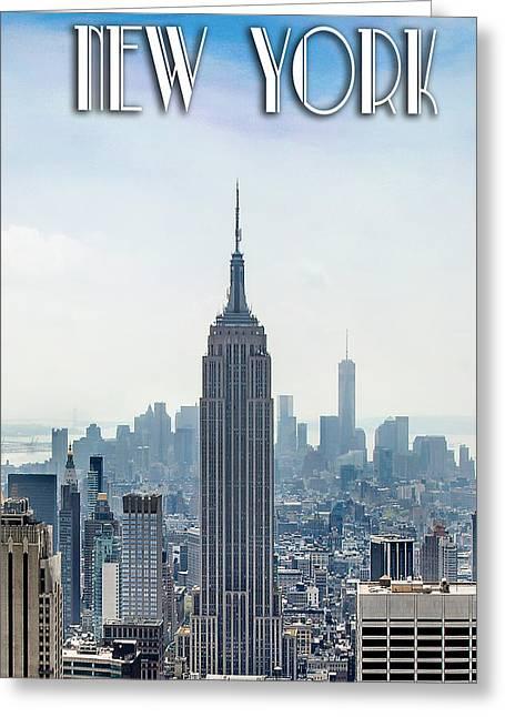 New York Classic Greeting Card by Az Jackson