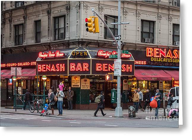 New York Deli Greeting Card by Thomas Marchessault