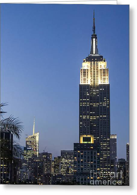New York Empire State Building  Greeting Card