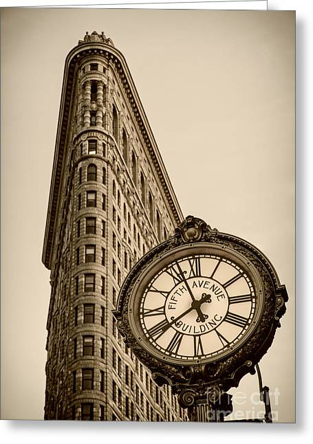 Greeting Card featuring the photograph New York Flatiron by Juergen Held