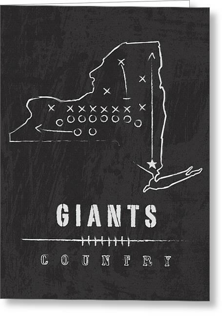 New York Giants Art - Nfl Football Wall Print Greeting Card by Damon Gray